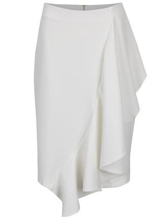 Krémová sukňa s volánom Closet