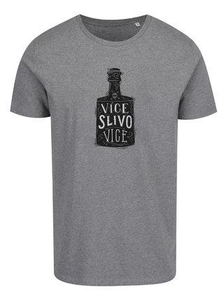 Šedé pánské tričko ZOOT Originál  Více slivovice