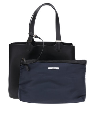 Geanta shopper neagra Pieces Kopa 2 in 1