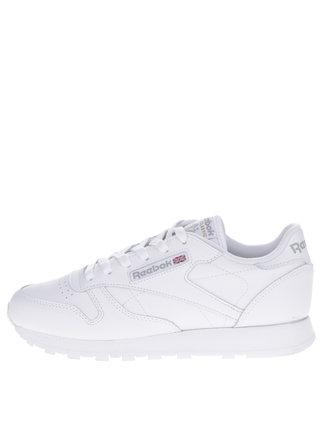 Pantofi sport albi din piele pentru femei Reebok Classic