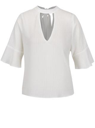 Bluza crem choker cu maneci 3/4 Miss Selfridge