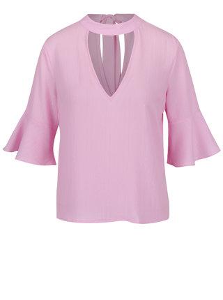 Bluza roz cu decupaj Miss Selfridge