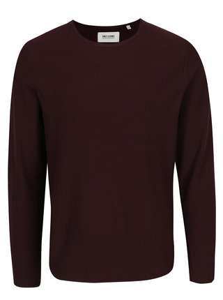 Bluza rosu burgundy melanj ONLY & SONS Paldin