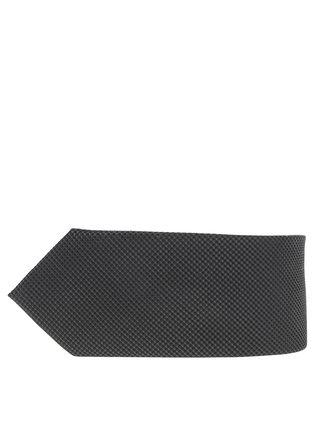 Tmavozelená hodvábna kravata s jemným vzorom Jack & Jones Premium Colombia