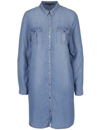 Světle modré džínové košilové šaty VERO MODA Silla