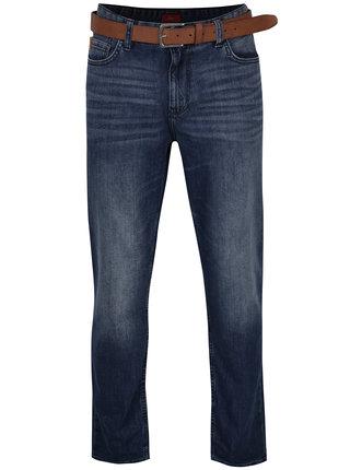 Modré pánské regular fit džíny s páskem s.Oliver