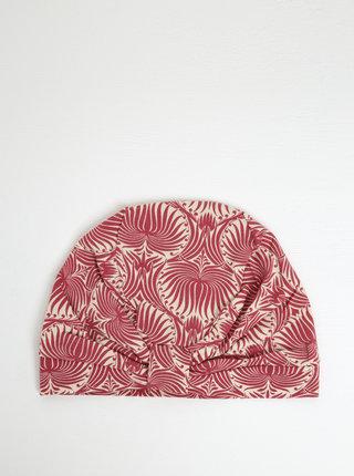 Krémovo-ružová vzorovaná čapica Blutsgeschwister