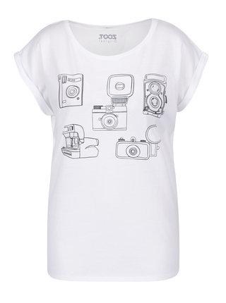 Tricou alb cu print camere foto pentru femei ZOOT Original Foto
