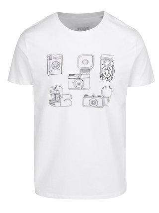 Biele pánske tričko s potlačou ZOOT Original Foťáky