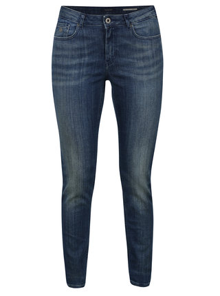 Modré skinny rifle s vyšúchaným efektom Scotch & Soda