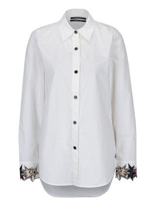 Krémová košile s nášivkami na rukávech Scotch & Soda
