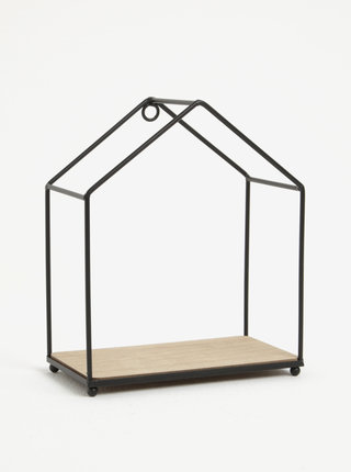 Čierna závesná polica v tvare domčeka Sass & Belle House Shelf