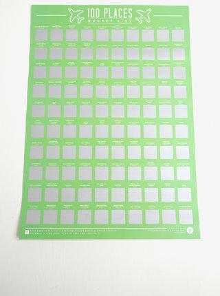 Calendar razuibil cu 100 de locuri de vizitat - Gift Republic