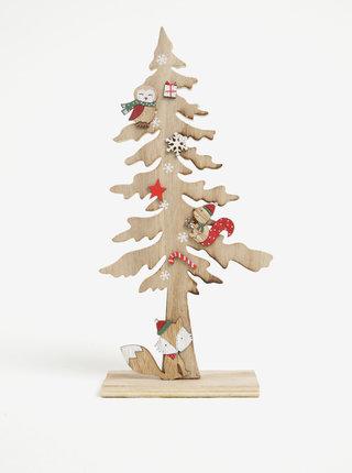 Dřevěná dekorace ve tvaru jehličnatého stromu Sass & Belle Animals