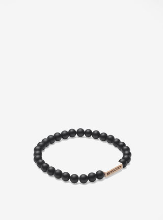 Černo-krémový náramek BeWooden Nox Dot Bracelet