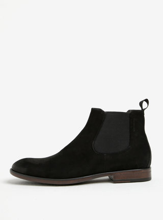 Černé pánské semišové chelsea boty Vagabond Harvey