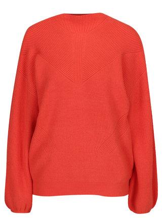 Oranžový sveter s balónovými rukávmi VERO MODA Darcel