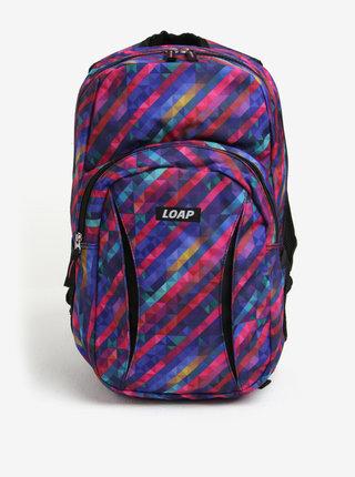 Fialový dámsky vzorovaný batoh LOAP Asso 20 l