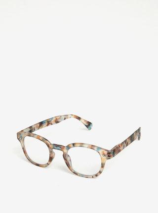 Modro-hnedé vzorované ochranné okuliare k PC  IZIPIZI #C