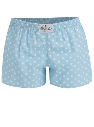 Světle modré dámské puntíkované trenky El.Ka Underwear