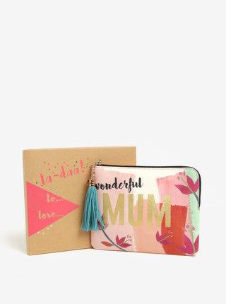 Ružová kozmetická taštička v darčekovej škatuľke Disaster Ta-Daa Mum