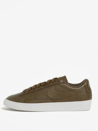 Khaki dámské kožené tenisky Nike Blazer Low
