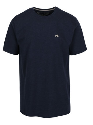 Tricou basic bleumarin cu logo brodat discret - Raging Bull