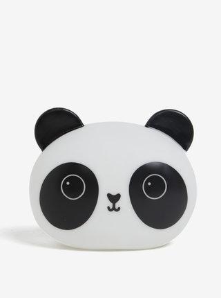Bielo-čierna nočná LED lampička v tvare pandy Sass & Belle