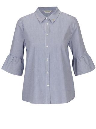 Bílo-modrá pruhovaná košile s 3/4 rukávem Scotch & Soda
