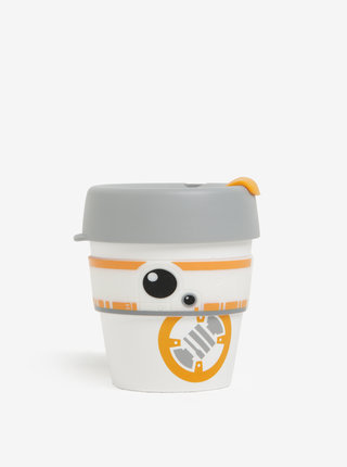 Cana de calatorie alb&portocaliu cu tematica Star Wars KeepCup BB8 Original Small