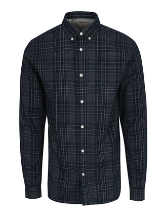 Tmavomodrá kockovaná regular fit košeľa Selected Homme Two Sid
