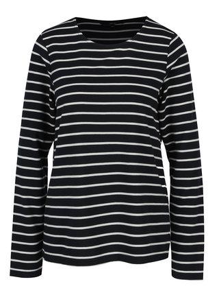 Tmavomodré pruhované tričko s dlhým rukávom VERO MODA Nira