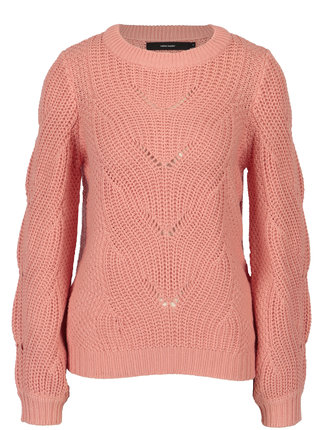 Koralový sveter VERO MODA Wishi