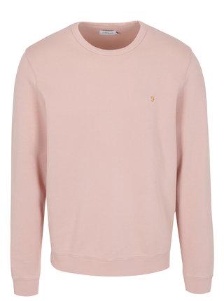 Bluza roz pal cu logo brodat - Farah Pickwell