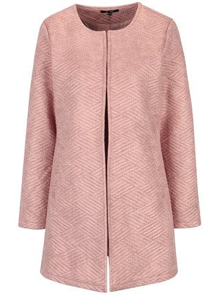 Ružový vzorovaný kabát s vreckami Yest