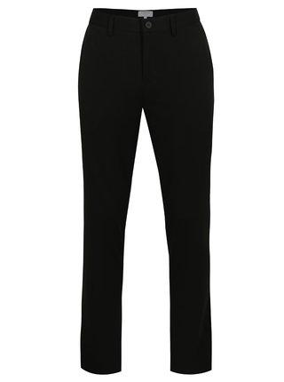 Pantaloni elastici negri cu buzunare - Lindbergh