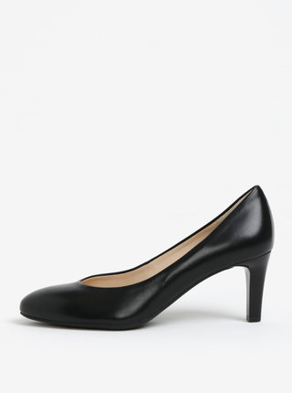 Pantofi negri din piele cu toc Högl