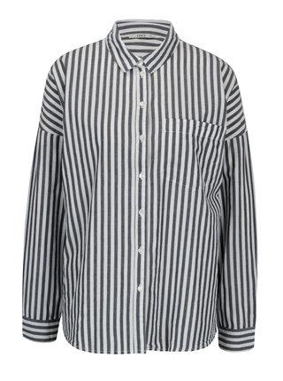 Modro-krémová pruhovaná košeľa ONLY Joline