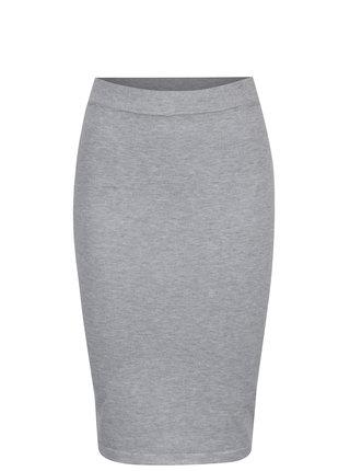 Svetlosivá puzdrová sukňa VILA Gema