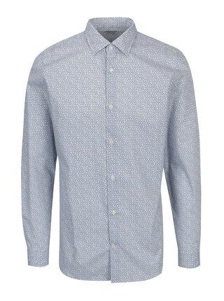 Camasa albastru&alb slim fit cu print - Selected Homme Done Pen
