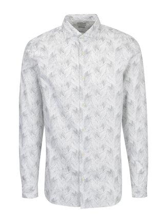 Camasa alba regular fit cu print - Selected Homme Two Sel
