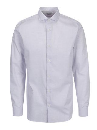 Světle fialová formální regular fit košile s drobným vzorem Selected Homme Two Sel
