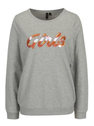 Bluza sport gri cu paiete reversibile - VERO MODA Girls