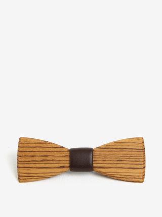 Světle hnědý pánský dřevěný motýlek BeWooden Corra