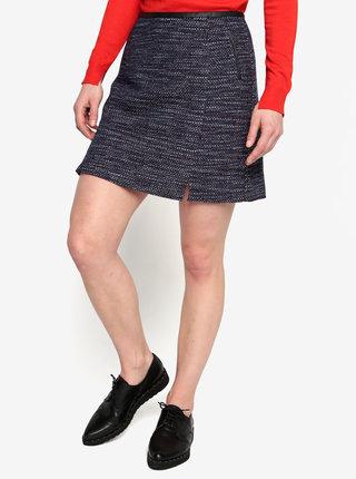 Tmavomodrá vzorovaná sukňa Oasis Merlot