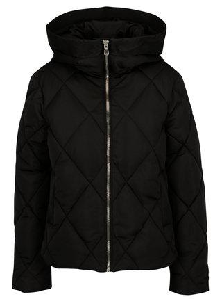 Černá prošívaná bunda Miss Selfridge