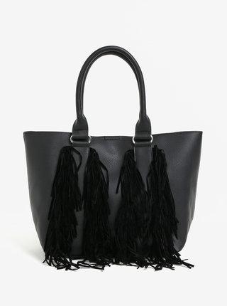 Čierny shopper so strapcami Miss Selfridge