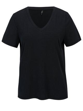 Tmavomodré voľné basic tričko ONLY Venus