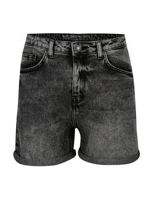 Pantaloni scurti gri din denim cu talie inalta  - Noisy May Be liv