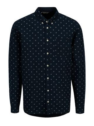 Tmavomodrá vzorovaná slim fit košeľa Casual Friday by Blend
